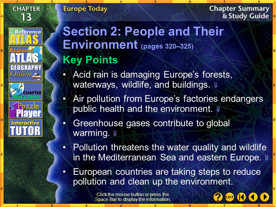 Section 2: People and Their Environment (pages 320–325)