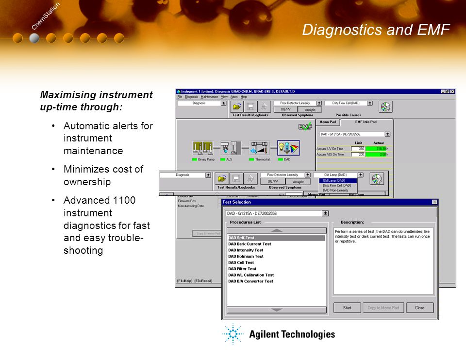 Diagnostics and EMF Maximising instrument up-time through: