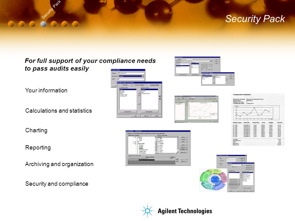 Security Pack Security Pack. Calculations and statistics. For full support of your compliance needs to pass audits easily.