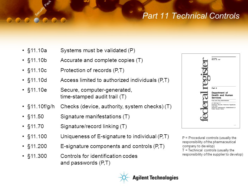 Part 11 Technical Controls