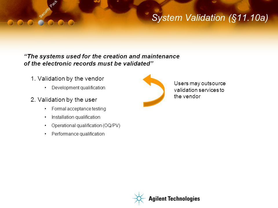 System Validation (§11.10a)