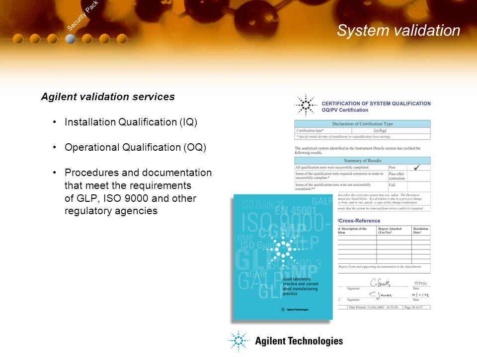 System validation Agilent validation services