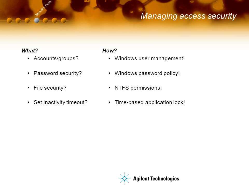 Managing access security