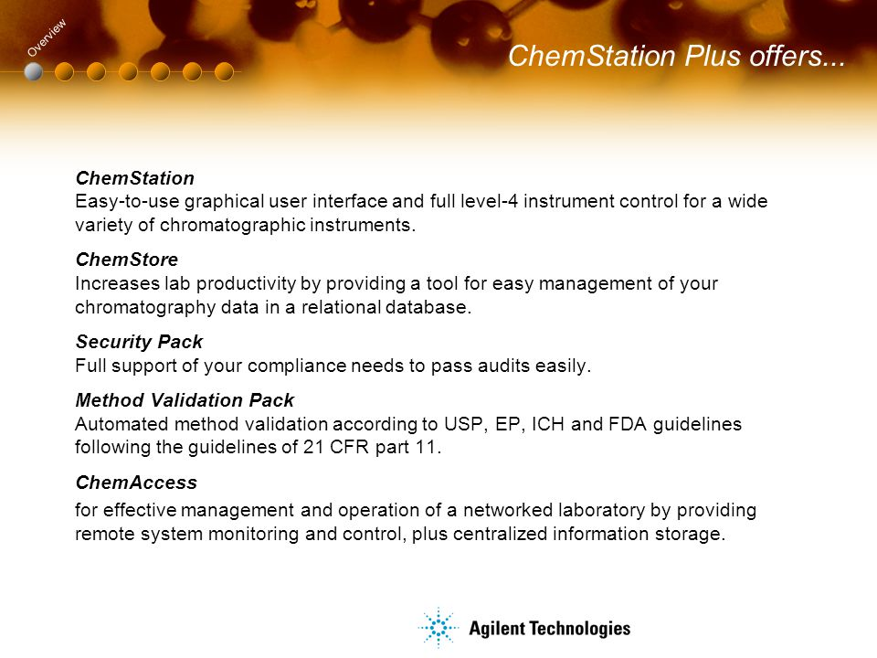 ChemStation Plus offers...