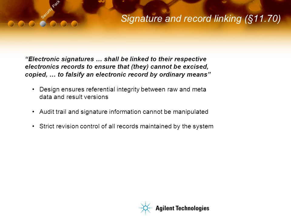 Signature and record linking (§11.70)