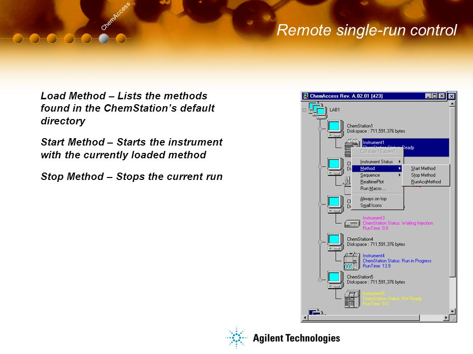 Remote single-run control