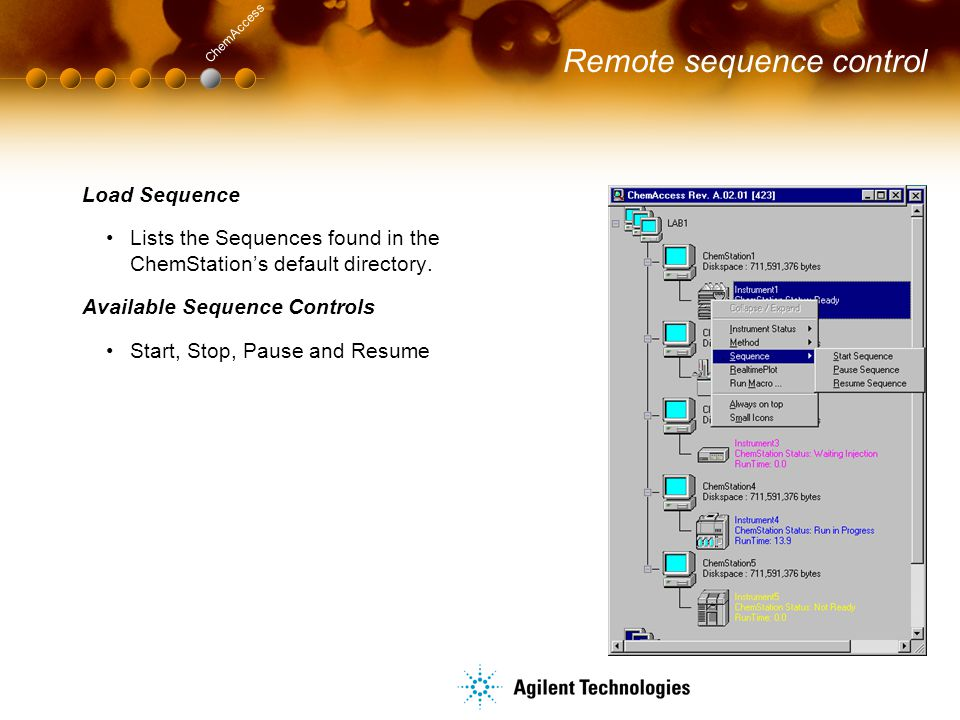 Remote sequence control