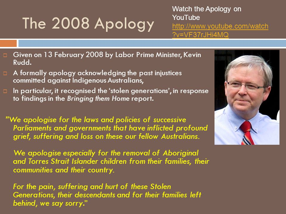 Watch the Apology on YouTube