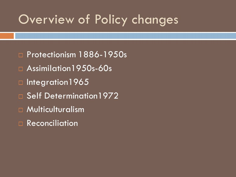 Overview of Policy changes