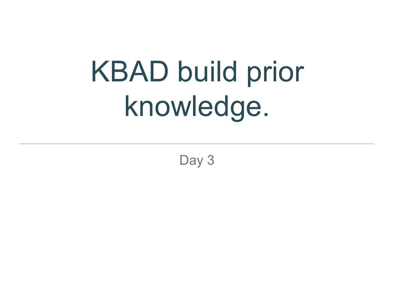 KBAD build prior knowledge.