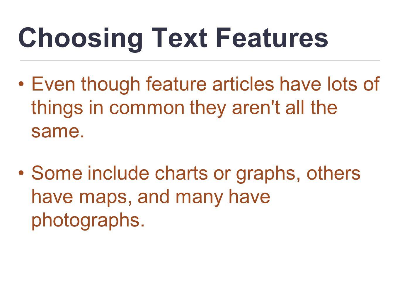 Choosing Text Features