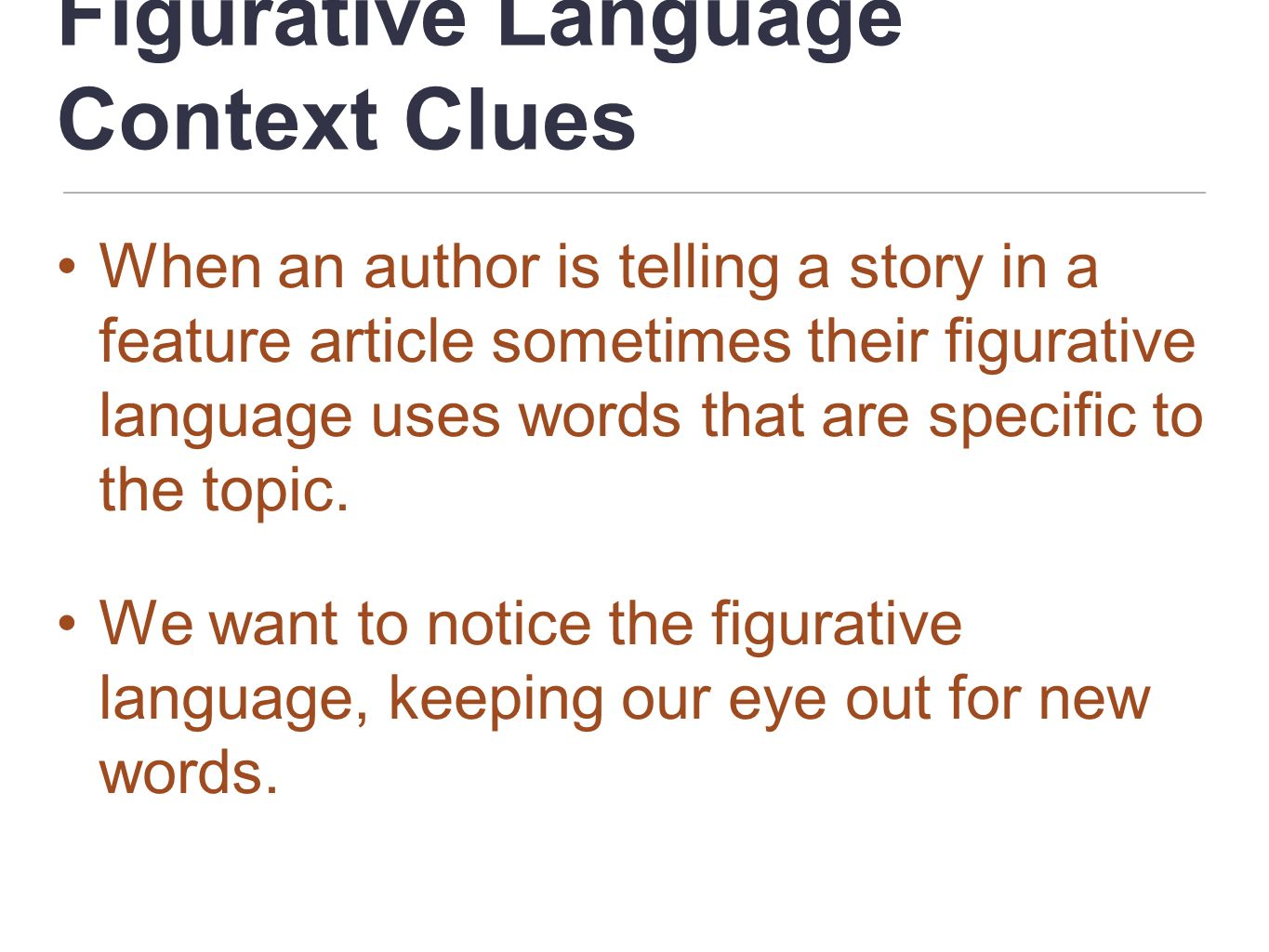 Figurative Language Context Clues