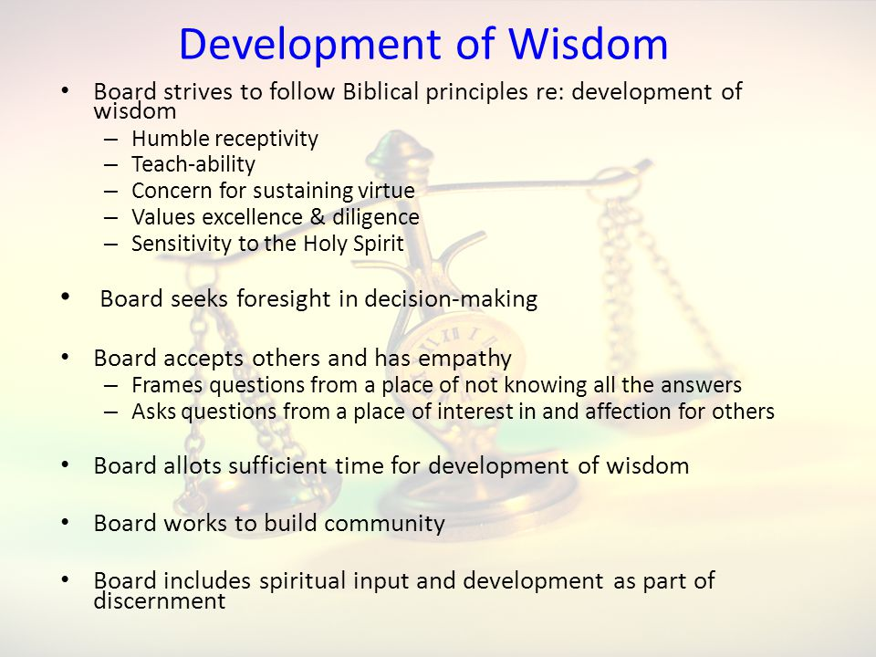 Development of Wisdom Board seeks foresight in decision-making