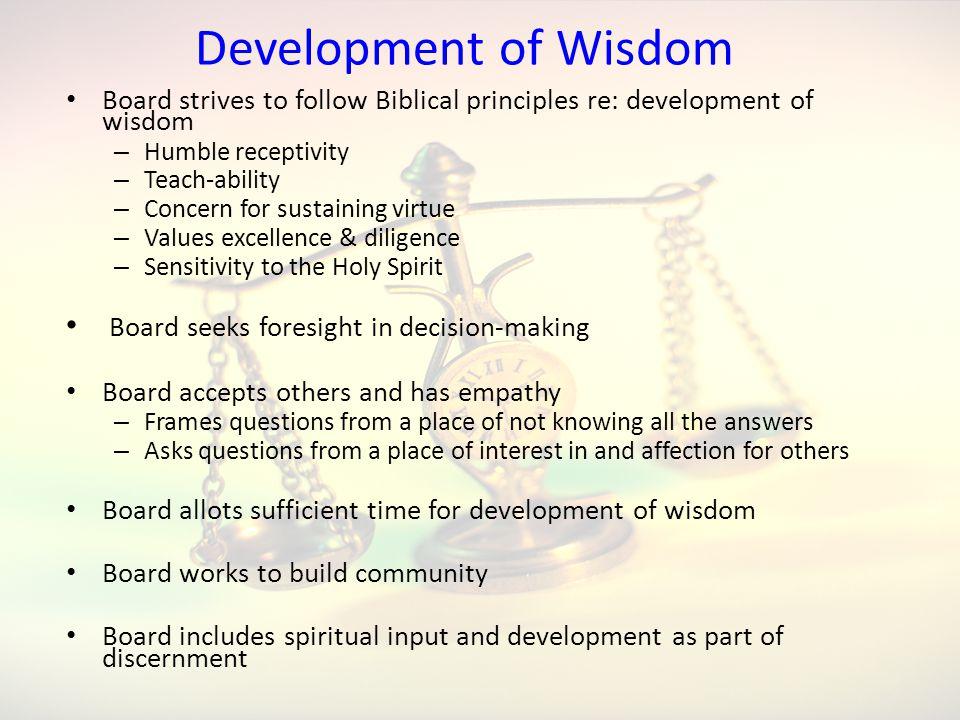 Development of Wisdom Board seeks foresight in decision-making