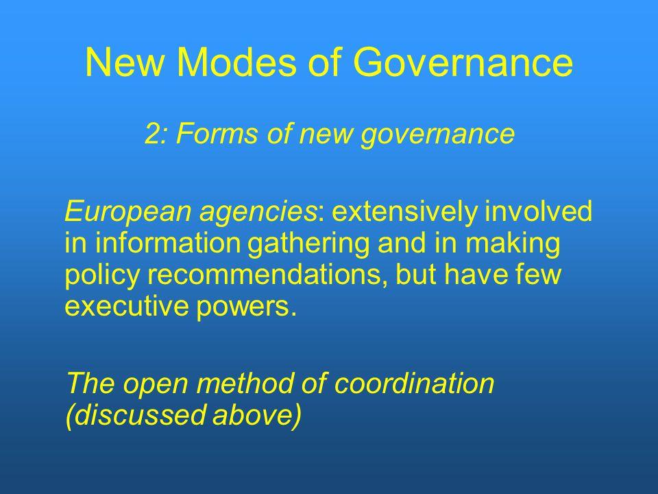 New Modes of Governance