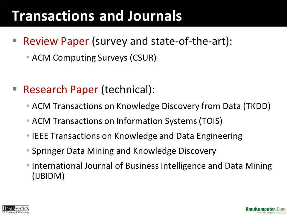 Transactions and Journals