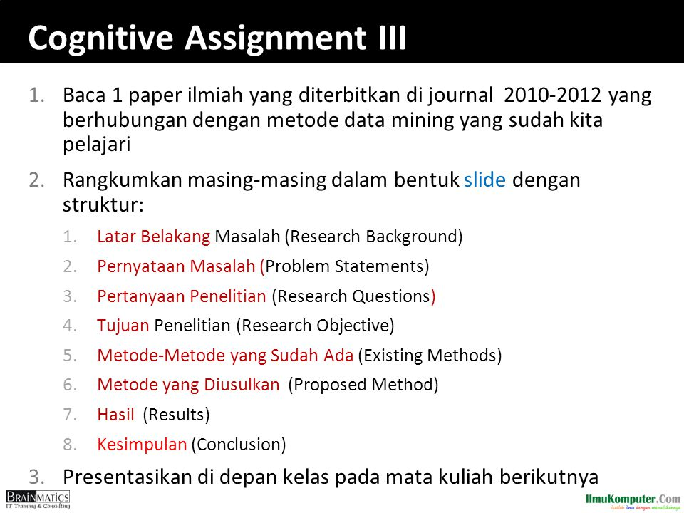 Cognitive Assignment III
