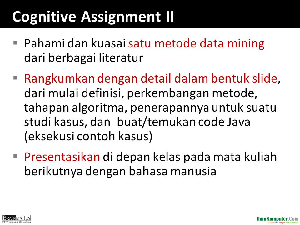 Cognitive Assignment II