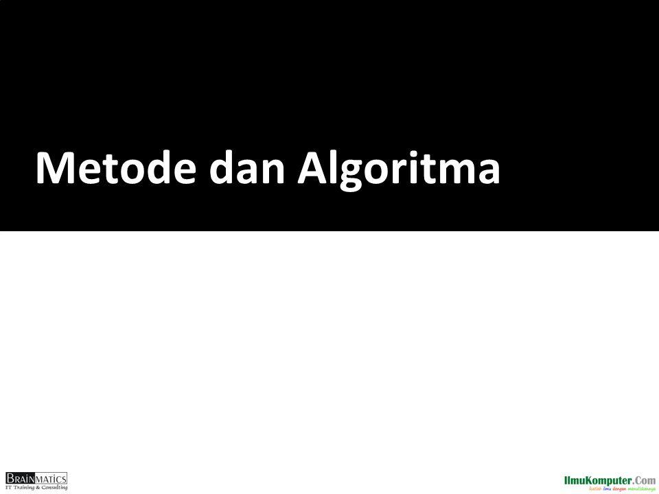 Metode dan Algoritma