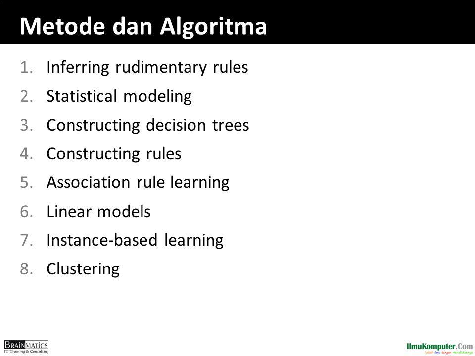 Metode dan Algoritma Inferring rudimentary rules Statistical modeling