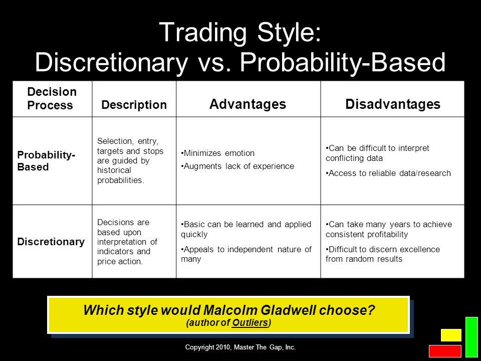 Trading Style: Discretionary vs. Probability-Based