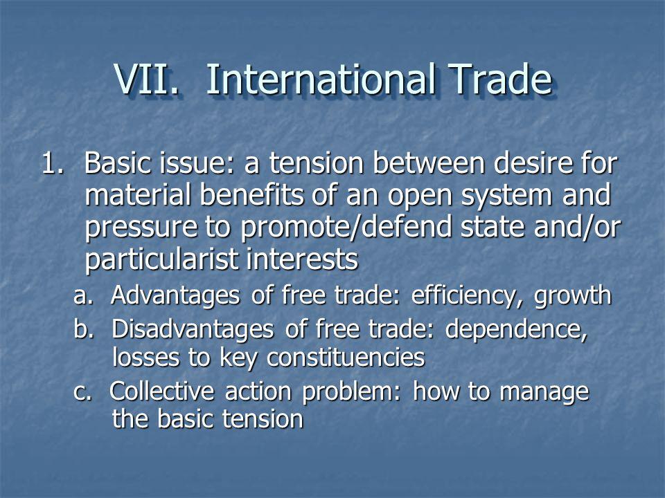 VII. International Trade