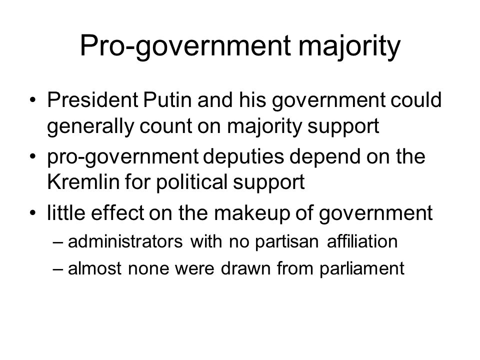 Pro-government majority