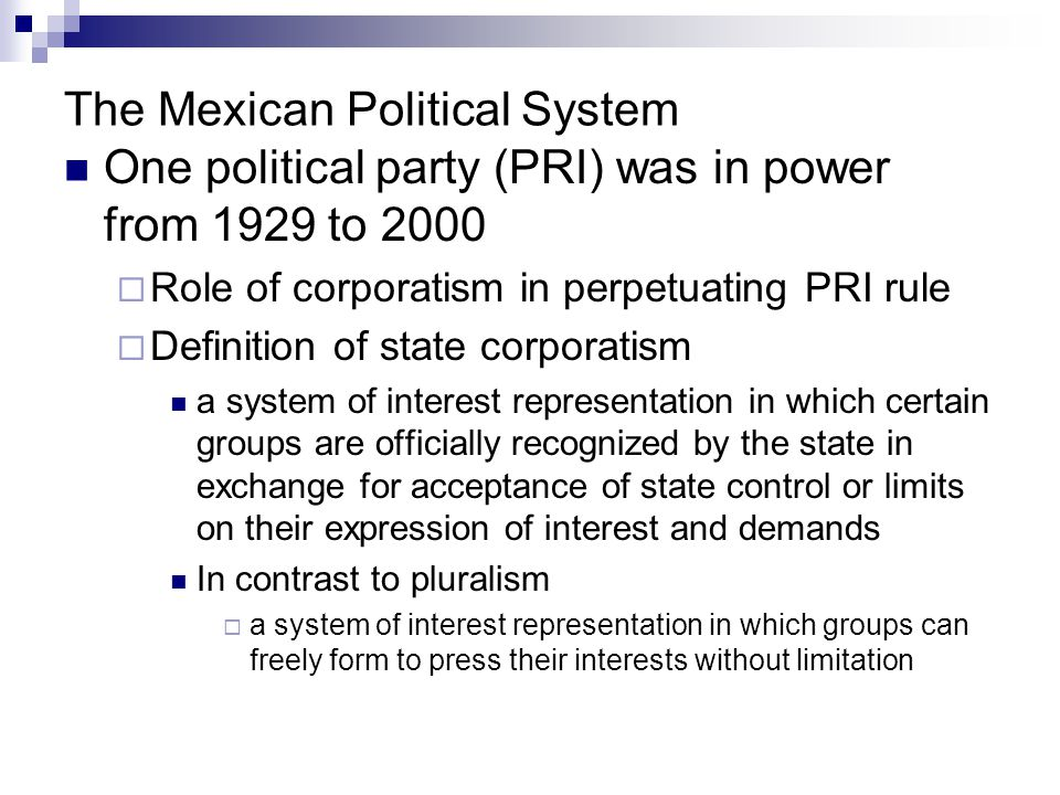 The Mexican Political System
