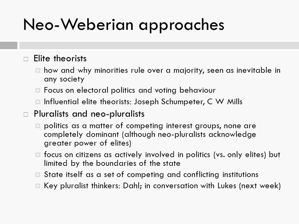 Neo-Weberian approaches