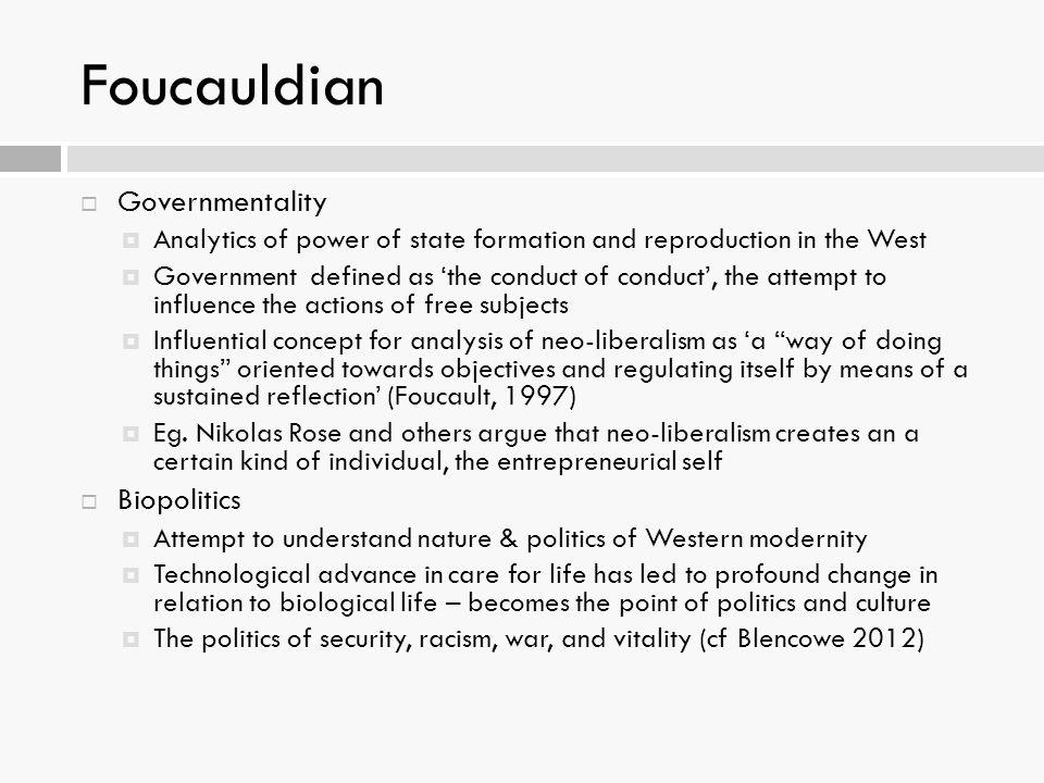 Foucauldian Governmentality Biopolitics
