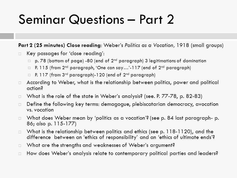 Seminar Questions – Part 2