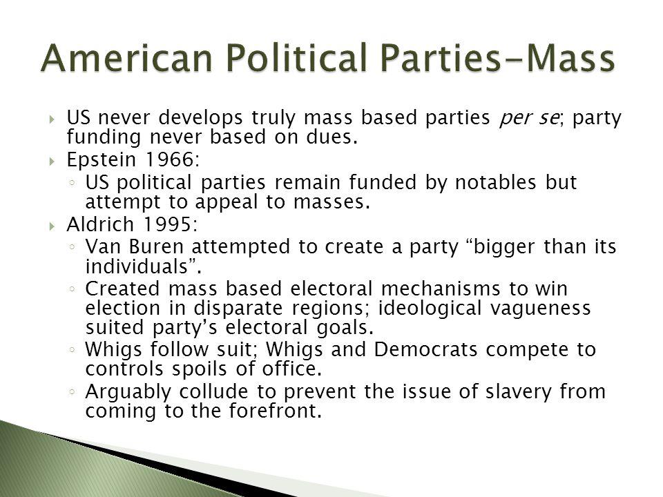 American Political Parties-Mass