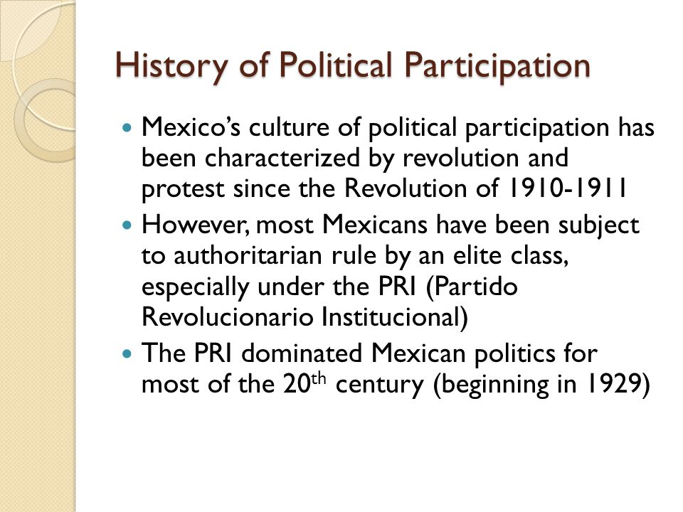 History of Political Participation