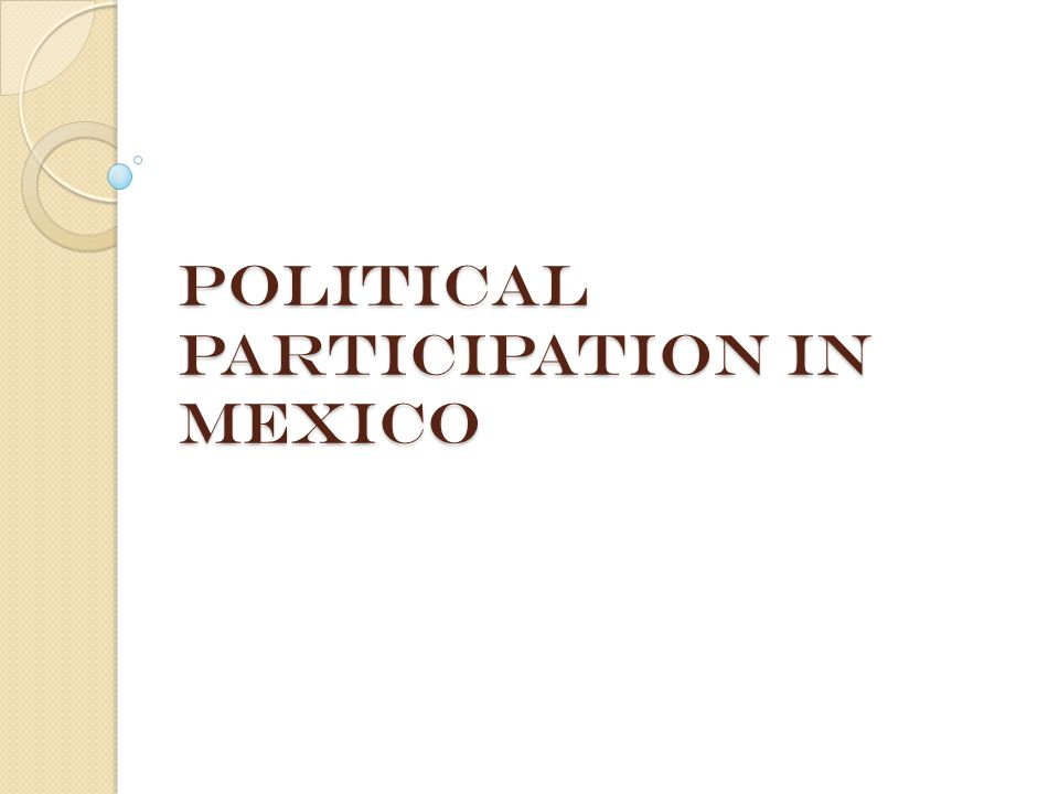 Political Participation in Mexico