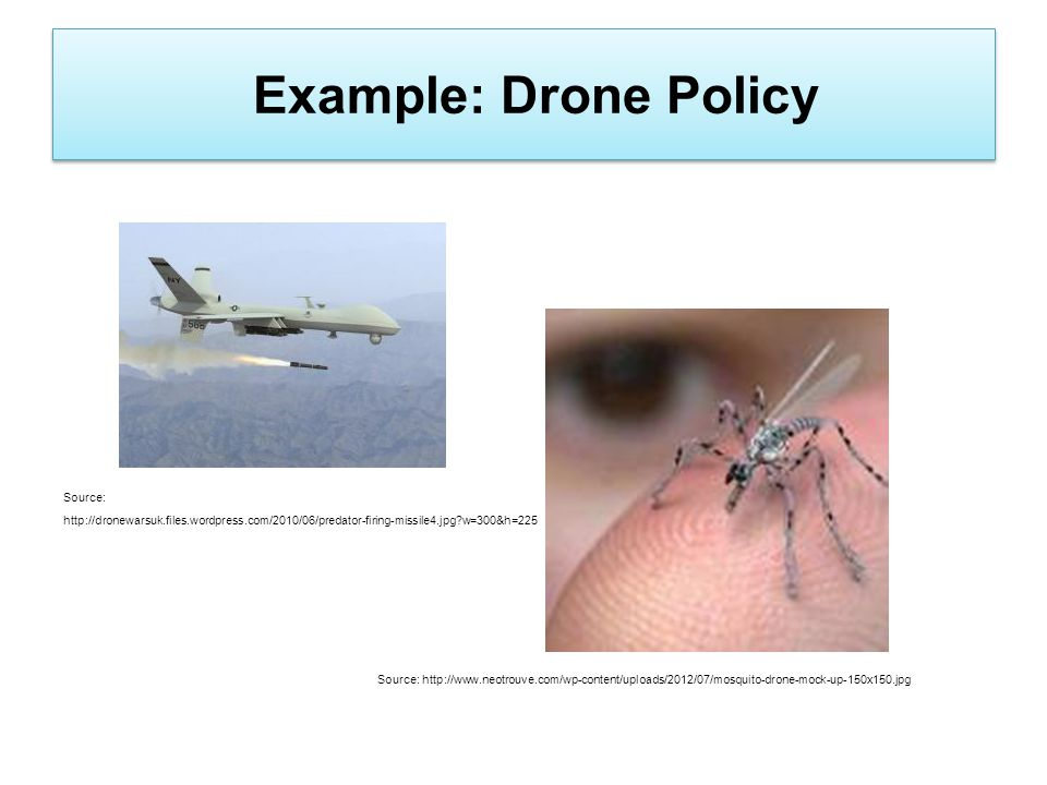 Example: Drone Policy Source: