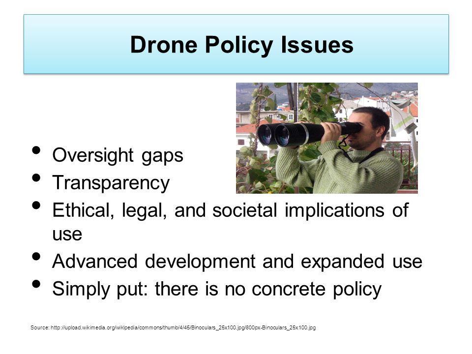 Drone Policy Issues Oversight gaps Transparency