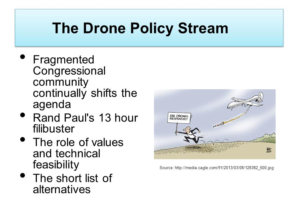 The Drone Policy Stream