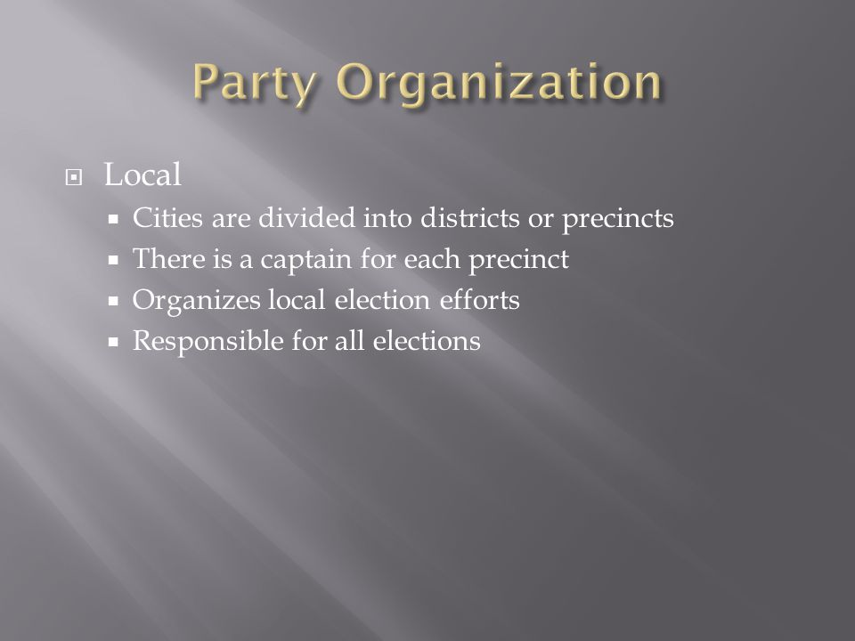 Party Organization Local