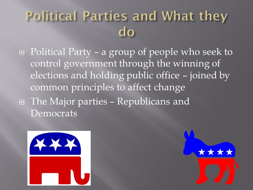 Political Parties and What they do