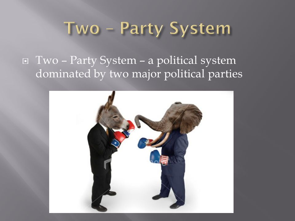 Two – Party System Two – Party System – a political system dominated by two major political parties