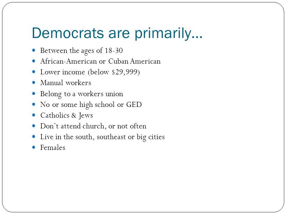 Democrats are primarily…