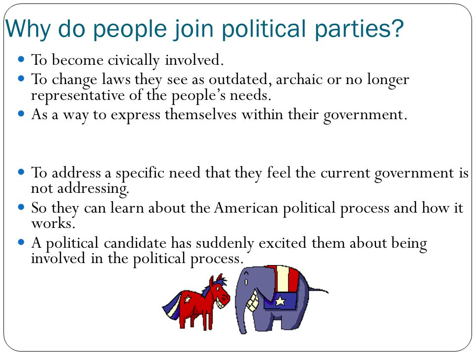 Why do people join political parties