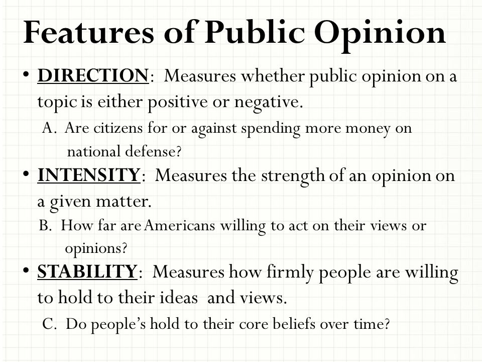 Features of Public Opinion