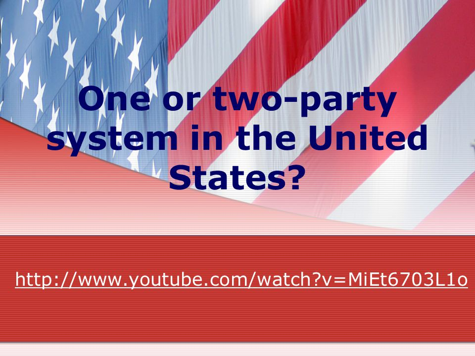 One or two-party system in the United States