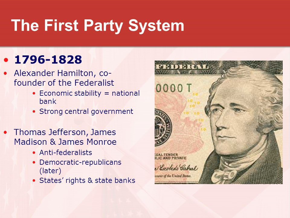 The First Party System 1796-1828
