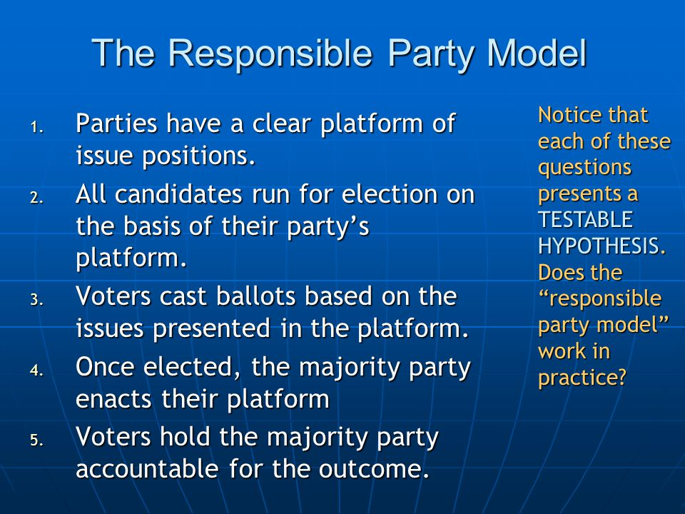 The Responsible Party Model