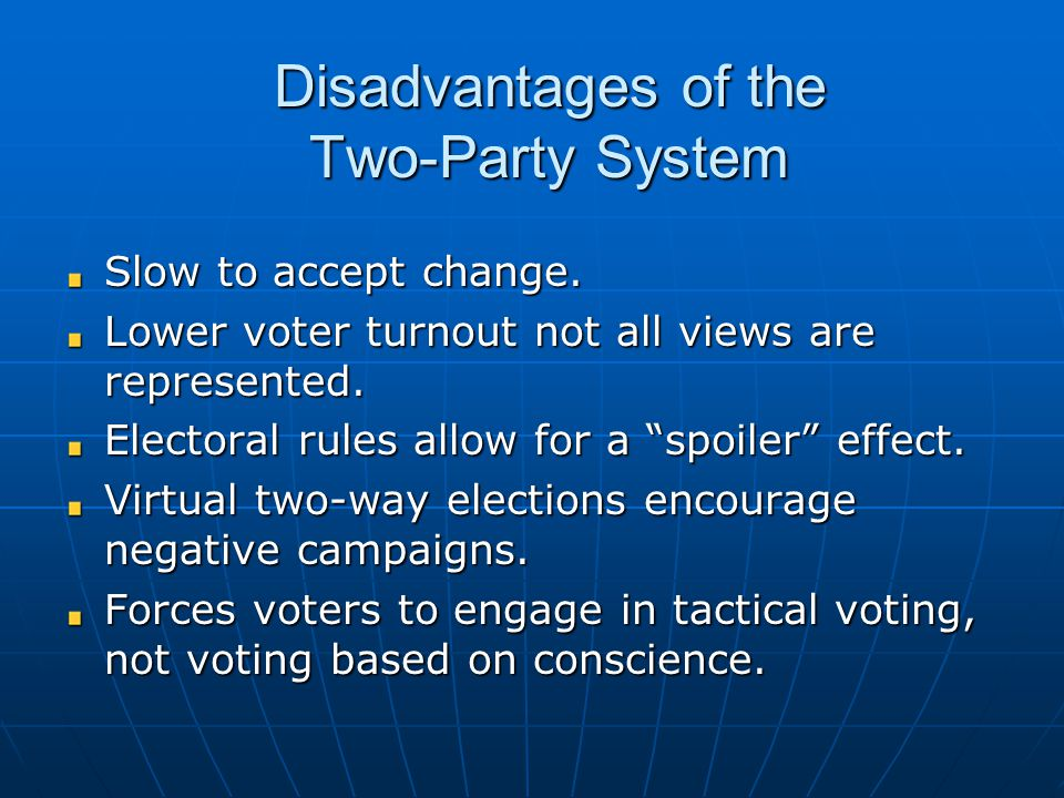 Disadvantages of the Two-Party System