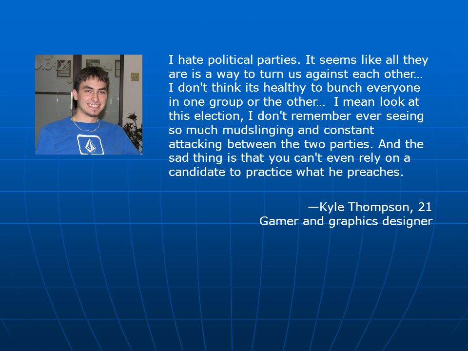 I hate political parties