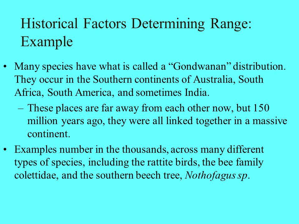 Historical Factors Determining Range: Example