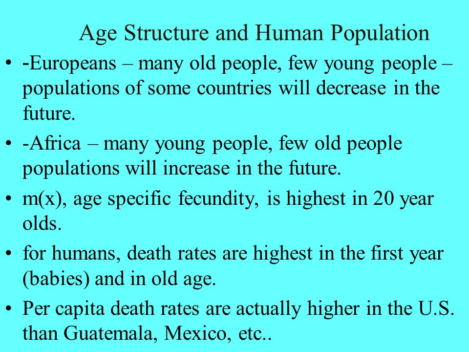 Age Structure and Human Population